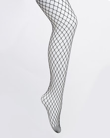 All Heart Fishnet Hose Black