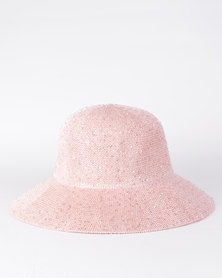 All Heart Sequin Hat Pink