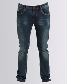 Alpha Industries Lupo Stretch Jeans Mid Blue