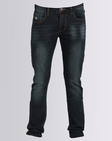 Alpha Industries Rocco Stretch Jeans Blue Black