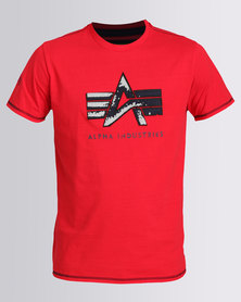 Alpha Industries Jester Crew Tee Red
