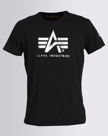 Alpha Industries Flying A Foil Tee Black