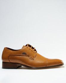 Anton Fabi Vietto Formal Lace Up Shoe Tan