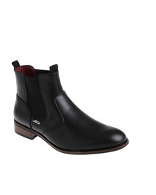 Anton Fabi Rafa Formal Slip On Chelsea Ankle Boot Black