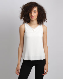 Assuili William de Faye V Neck Top White