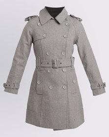 Assuili Long Zara Coat Grey