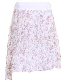 Assuili Printed Skirt White