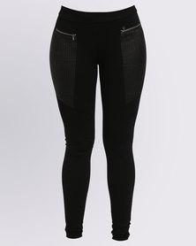 Assuili Mina Leatherette Pants Black