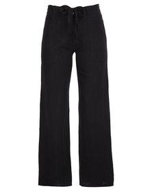 Assuili Linen Pants Black
