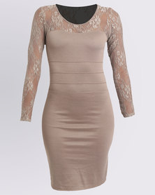 Assuili Emily Dress Taupe