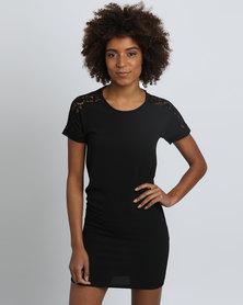 Assuili William de Faye Lace Collar Dress Black