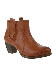 Awol Gusset Boot Cognac