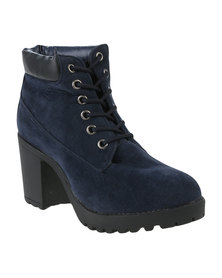 Awol Lace Up Boot Blue