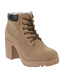 Awol Lace Up Boot Tan