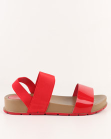 AWOL Flatform Sandals Red