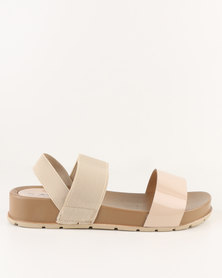 AWOL Flatform Sandals Nude