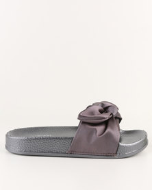 AWOL Slip On Flat Sandals Pewter