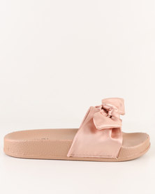 AWOL Slip On Flat Sandals Rose Gold