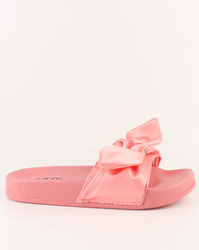 AWOL Slip On Flat Sandals Rose Coral