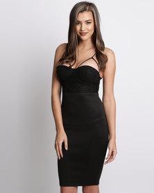 AX Paris Mini Dress With Strap Detail Black