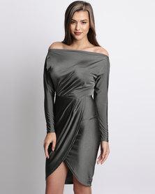 AX Paris Wrap Around Dress Khaki
