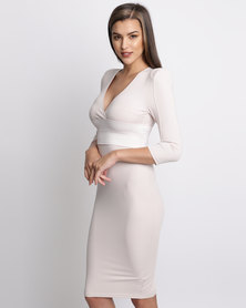 AX Paris Bandage Bodycon Nude