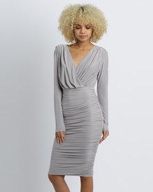 AX Paris Slinky Midi Dress Grey