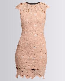 AX Paris Cap Sleeve Dress Blush
