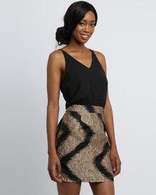 AX Paris Minidress 2 In1 Black/Gold