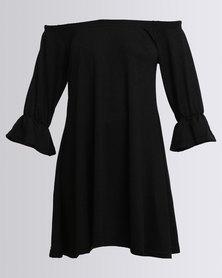 AX Paris Knitted Swing Midi Dress Black