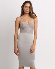 AX Paris Strappy Midi Dress Grey