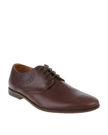 Bata Rhino Leather Formal Lace Up Shoe Brown