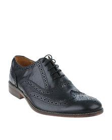 Bata Rhino Leather Formal Lace Up Shoe Black