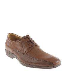 Bata Formal Panelled Shoe Brown