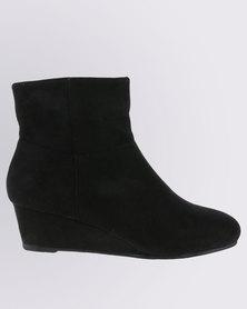 Bata Suede Short Boots Black