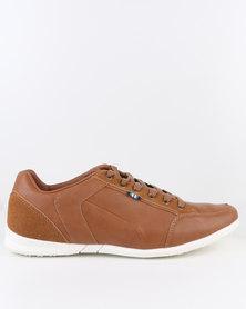 Bata Kinetec PU Lace-Up Sneakers Dark Brown
