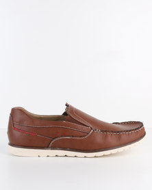 Bata Men's Slip-On Shoe Brown