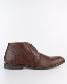 Bata Formal Lace-Up Boot Brown