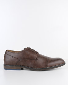 Bata PU Lace-Up Shoe Brown