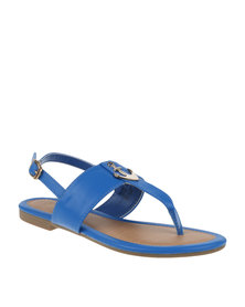 Bata Ladies Sandals With Anchor Detail Blue