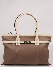 Bata Ladies Plain Tote Bag Brown