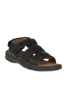Bata Mens Slingback Sandals Black