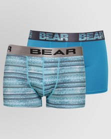 Bear 2 Pack Digital Tribal Print Bodyshorts Turq/Teal