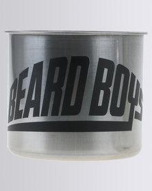 Beard Boys Shaving Soap Mug Silver-tone