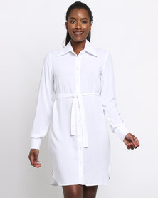 BiBi Rouge Olivia Shirt Dress White