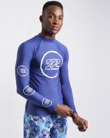 Billabong Creed LS Rashie Blue