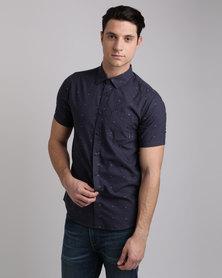 Billabong Crusin Short Sleeve Shirt Blue