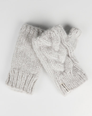 Blizzard Fingerless Gloves Grey