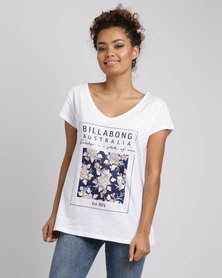 Billabong Daydreamer V Neck Tee White
