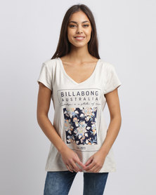 Billabong Daydreamer V-Neck Tee Grey